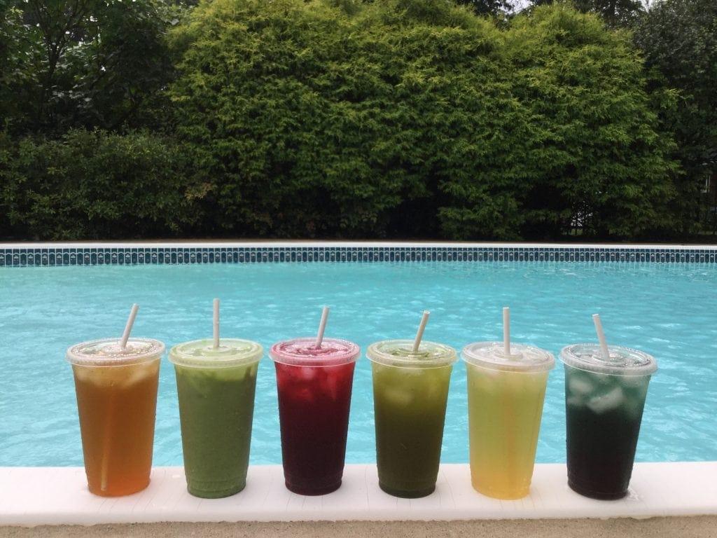 iced tea pool rainbow