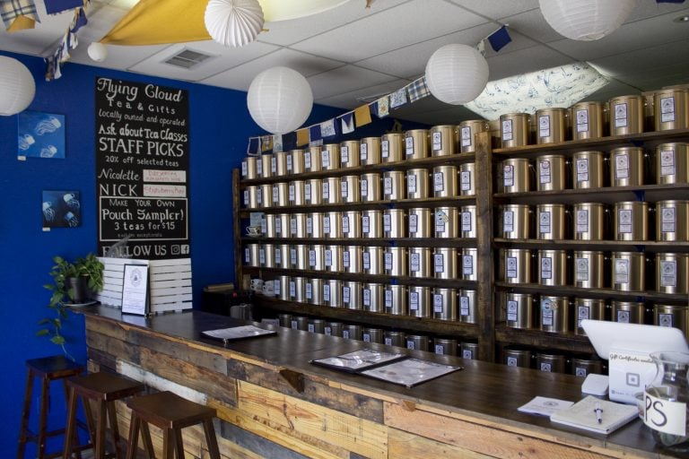 Flying Cloud Tea tasting bar