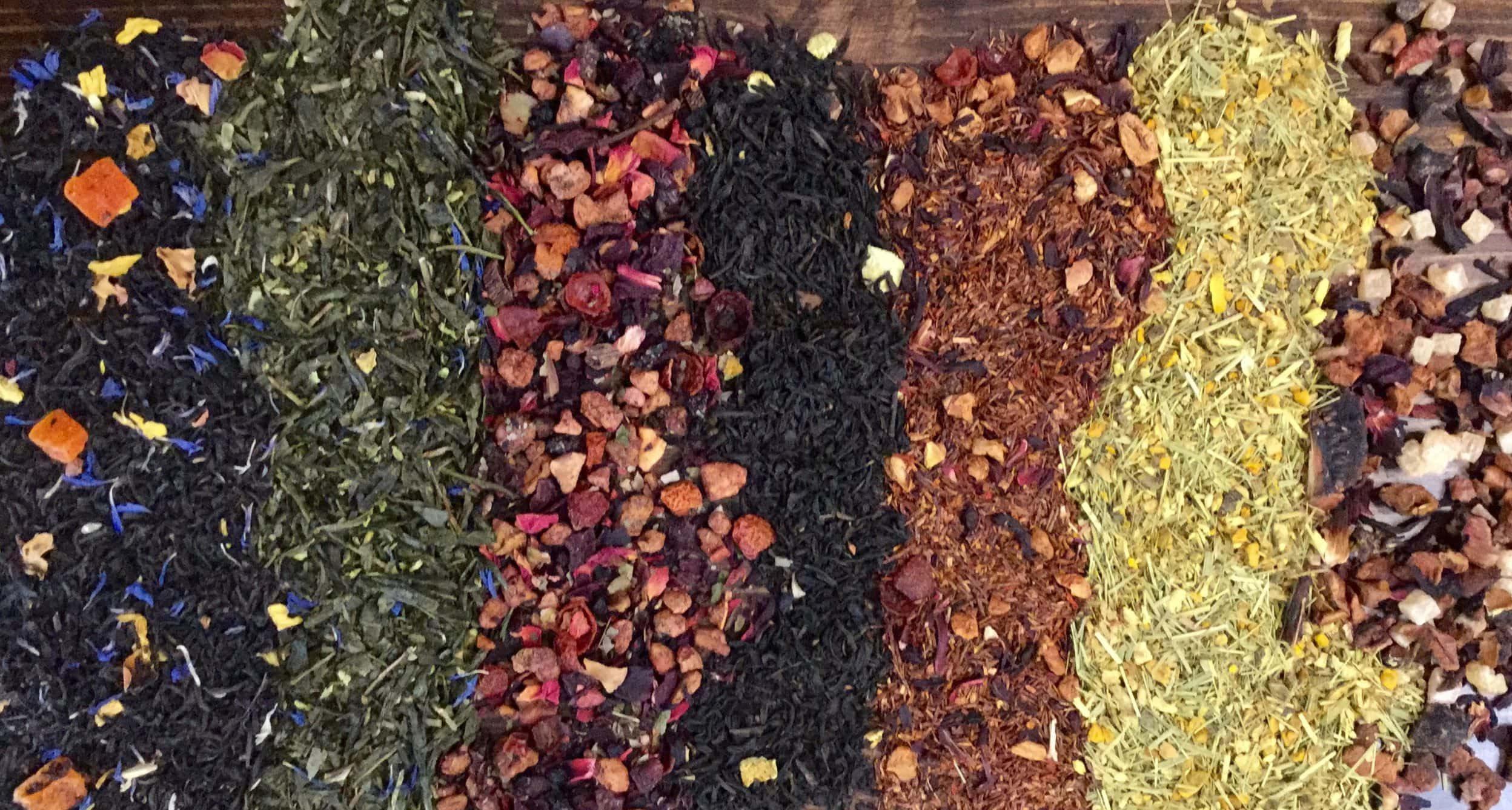 variety of loose leaf teas