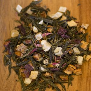 Pink Guava loose leaf green tea